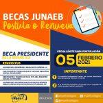 Se extiende el plazo para postular o renovar las #BecasJunaeb hasta el 05 de febrero 2021